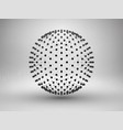 Sphere with dots halftone connection concept vector image