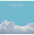 Summer beautiful cloudscape vector image