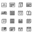 thin line icons - calendar vector image