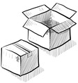 doodle boxes moving packing vector image