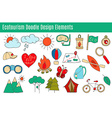 ecotourism design elements isolated vector image