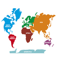 World map with continents vector image