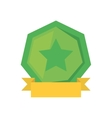 green shield with star and yellow ribbon vector image