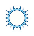 isolated big sun vector image