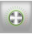 volume button neon green vector image