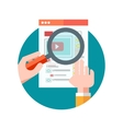 Watching movie Flat design concept vector image vector image