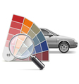 Color Choice for Car vector image