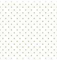 Tile pattern green polka dots white background vector image vector image