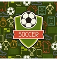 Sports seamless pattern with soccer symbols vector image