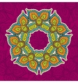 colored vintage circular pattern of indian vector image