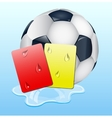 Warning and ban cards with ball vector image