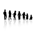 silhouettes children vector image
