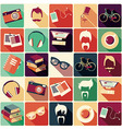 Collection of retro hipster elements vector image