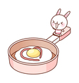 Cooking use frying pan vector image