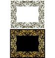 Elegance frame in floral style vector image