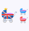 English baby carriages vector image
