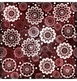 Geometric seamless floral pattern vector image