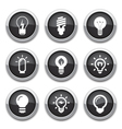 light bulb buttons vector image