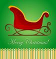 Santa sleigh Christmas card vector image