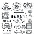 Set of car repair badges and design elements vector image