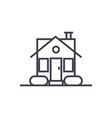simple house line icon sign vector image