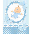 Smiling baby boy vector image
