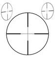 sniper aim icon black on white vector image