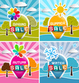 Spring - Summer - Autumn - Winter Sale Four vector image