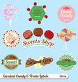 Carnaval Treats and Candy Labels vector image vector image