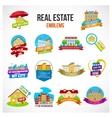 Real Estate Emblem Set vector image