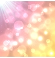 Bright colorful bokeh effect background vector image