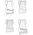 Scarf vector image