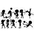 Kids engaging in different sports vector image vector image