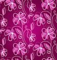 floral back pink pattern vector image