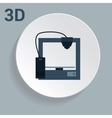 3d printer icon with simple design vector image