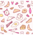 Doodle breakfast seamless pattern vector image