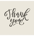 Thank You Card Calligraphy vector image