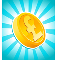 pound gold coin vector image