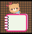 Bear with notebook vector image