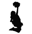 Cheerleader silhouette vector image