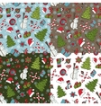 Christmas samless pattern setWinter doodles vector image