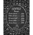 Coffee house chalkboard menu vector image