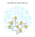 growth business concept vector image