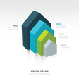 infographic and presentation template 4 color vector image