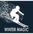 Skier -Winter Magic vector image