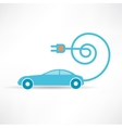 socket and the car is blue icon vector image