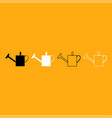 watering can it is white icon vector image