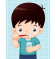 Boy brushing his teeth vector image