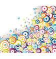 rainbow circles stream vector image