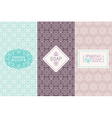 Hand made soap packaging and wrapping paper vector image vector image